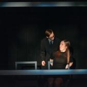"""Captive Audience"" Photo by Luke Rutan. Pictured: Brett Kelly and Megan Scott"