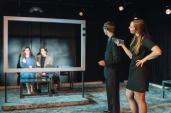 """Captive Audience"" Photo by Luke Rutan, Pictured Brett Kelly, Megan Scott, Megan Wilford, and Andrew Davies"