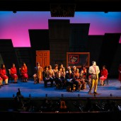 """Guys and Dolls"" Newport High School, Mission Interior. Photo by Rick Edelman"