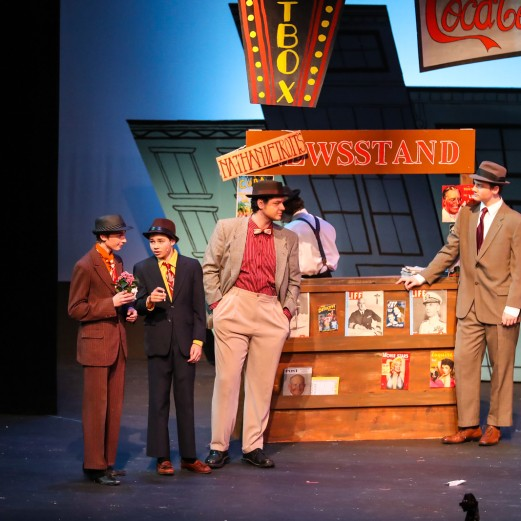 """Guys and Dolls"" Newport High School, Broadway. Photo by Rick Edelman"